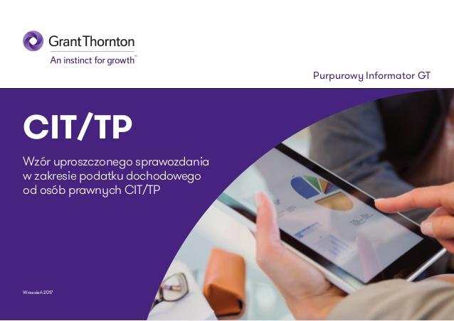 Wzór uproszczonego sprawozdania CIT/TP
